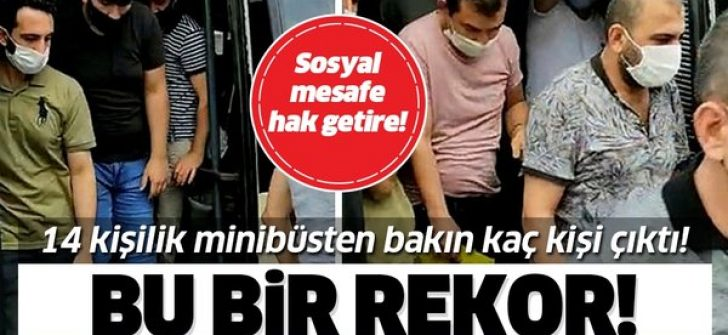 İstanbul Esenyurt'ta 14 kişilik bir minibüsten tam 42 kişi çıktı!