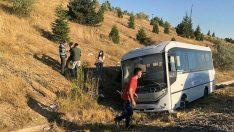 ASELSAN personelini taşıyan minibüs kaza yaptı