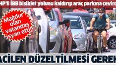 Kadıköy'de vatandaşlardan CHP'li İBB'ye bisiklet yolu tepkisi