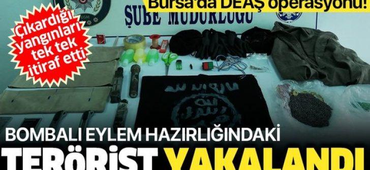 Bursa'da eylem hazırlığındaki DEAŞ'lı terörist yakalandı!