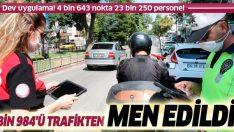 Ülke genelinde araç ve motosiklet uygulaması