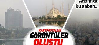 Sis altındaki Adana, havadan böyle görüntülendi