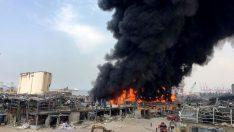 Beyrut Limanı'nda yine yangın!
