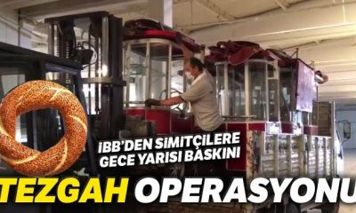 """Taksim'de İBB'den gece yarısı """"tezgah"""" operasyonu"""