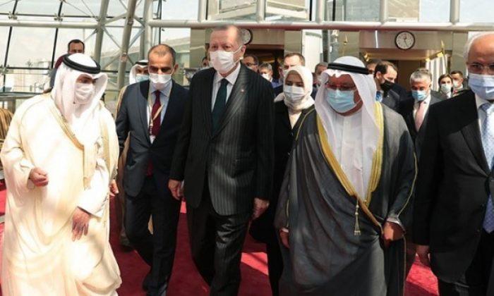 Cumhurbaşkanı Erdoğan taziye için Kuveyt'i ziyaret etti