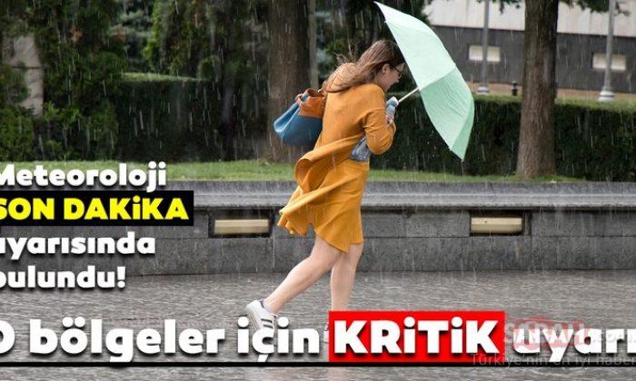 Meteoroloji son dakika hava durumu raporunu yayınladı!