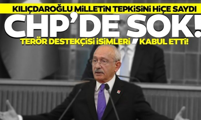 Kılıçdaroğlu terör destekçisi isimleri kabul etti