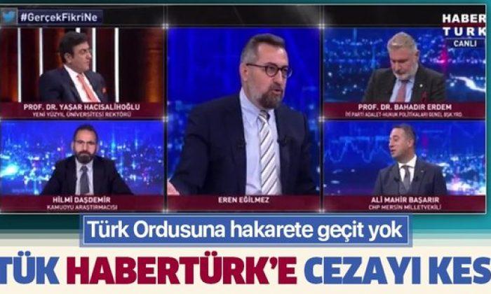 RTÜK'ten Habertürk'e ceza!