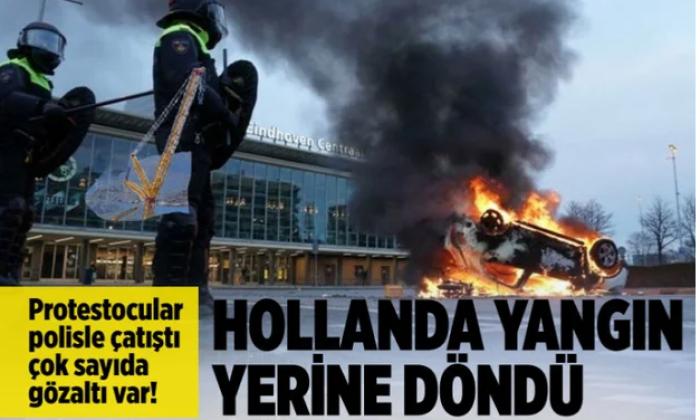 Hollanda'da sokağa çıkma kısıtlamalarına  protesto