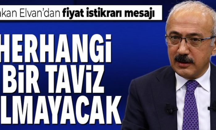 Bakan Elvan: Herhangi bir taviz olmayacak
