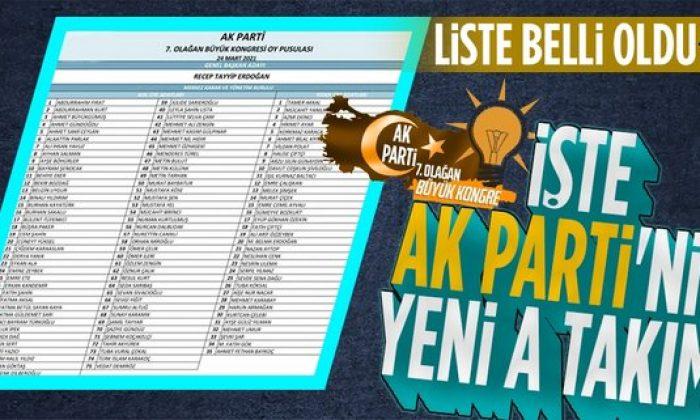 """AK Parti'nin yeni """"A Takımı"""" belli oldu!"""