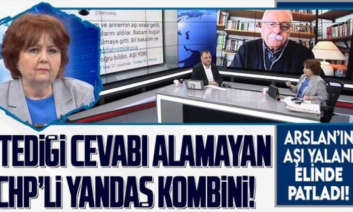 CHP yandaşı Ayşenur Arslan'ın aşı provokasyonu elinde patladı