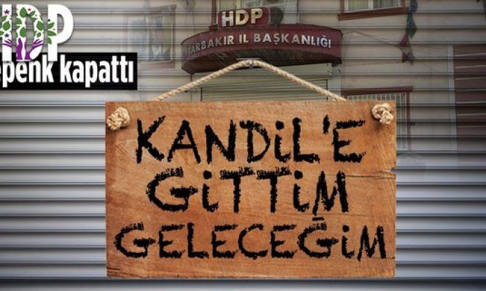 Diyarbakır'da Kandil'in sözcüsü HDP kepenk kapattı!