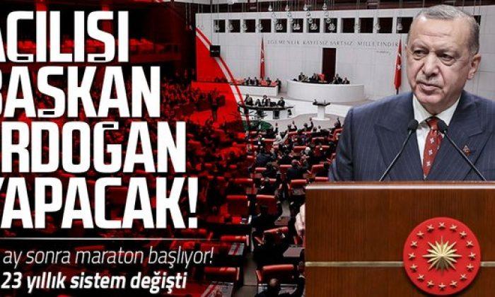 TBMM'de 27. Dönem 5. Yasama Yılı Başkan Erdoğan'ın konuşması ile açılacak